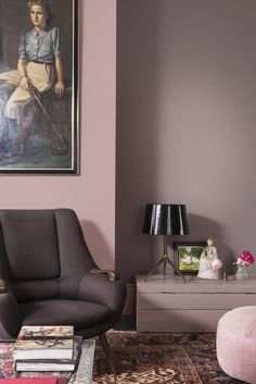 Cozy Pink Paradise Room Makeover ~ Home Design Ideas Room Colors, Wall Colors, House Colors, Paint Colors, Living Room Decor, Bedroom Decor, Dining Room, Trendy Home, Home Decor Inspiration