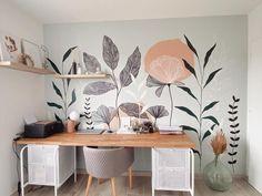 Bedroom Murals, Bedroom Decor, Wall Decor, Vogue Home, Mural Wall Art, Mural Painting, Wall Drawing, Wall Design, Room Inspiration