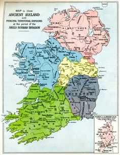 Map of Ancient Ireland with Principal Territorial Divisions at the period of the Anglo Norman Invasion