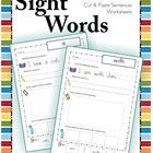 Sight Words - Cut and Paste Worksheets (Pre-Primer Sentences)  The worksheets in this unit concentrate on reading and using sight words in sentence...