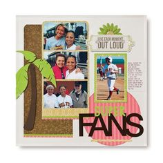 Super Fans Rotary Blades Scrapbooking Layout Idea  from Creative Memories #scrapbooking    http://www.creativememories.com