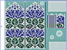 Tricotissimo added a new photo. Crochet Mittens Free Pattern, Knit Mittens, Knitted Gloves, Knitting Socks, Knitting Charts, Knitting Stitches, Knitting Patterns, Graph Design, Sampler Quilts