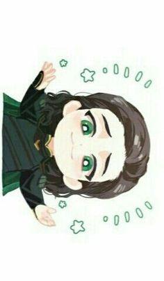 I freaking love Loki 💚💚 Marvel Comics, Chibi Marvel, Marvel Fan Art, Marvel Avengers, Baby Loki, Baby Avengers, Loki Art, Thor X Loki, Loki Wallpaper