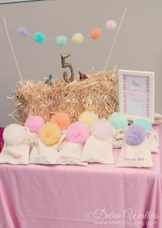 Adorable Party Theme: Pom poms and Ponies! #kidsparty