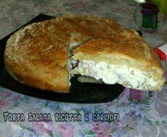 Torta salata ricotta e carciofi