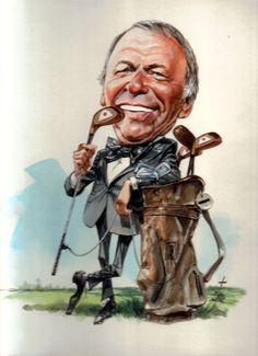 D R E W • F R I E D M A N: The art of Bruce Stark...Frank Sinatra, singer/golfer