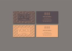 Eszter and Vörös Guesthouse Identity on Behance