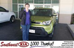 #HappyAnniversary to Beja Mlinarich on your 2014 #Kia #Soul from Everyone at Southwest Kia Mesquite!