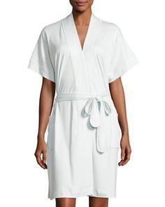 2d685e6c8 P Jamas Butterknit Short Wrap Robe