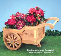 Peddlers Cart Planter Wood Pattern