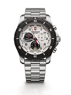 Victorinox Swiss Army Maverick Sport Chronograph Watch - Silver-Black