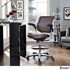 Modway Edge Drafting Chair (Verge Drafting Chair in Brown)