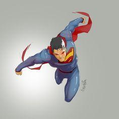 my first ever superman fan art Superman Comic Book Characters, Comic Book Heroes, Comic Books Art, Comic Art, Comic Superman, Batman, Superman Stuff, Dc Comics, Action Comics 1