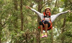 Fly through the air with the greatest of ease with a zipline adventure through the Southern Highlands rainforest with views of the Pacific