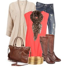 Coral & Leopard w/boots