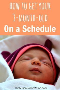 How to get your baby on a schedule - tips on how I did it with my 3-month-old!
