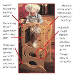 Diy learning tower has foldable design option would for Learning tower woodworking plans