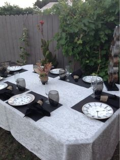 Steampunk Table Setting  Steampunk party ideas