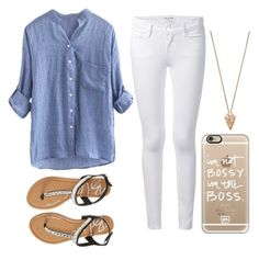 """""""Untitled #263"""" by juleenm ❤ liked on Polyvore featuring Frame Denim, Aéropostale, Casetify and Pamela Love"""