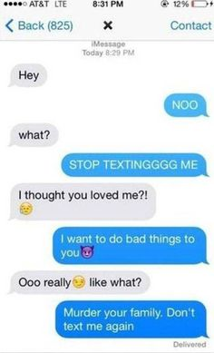 Scary Texts from Crazy Ex Girlfriends | Scary text messages, Texts ...