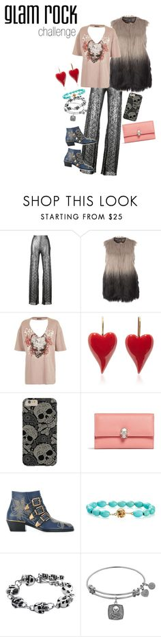 """""""glam rock challenge"""" by beautytime101 ❤ liked on Polyvore featuring HUISHAN ZHANG, Dorothy Perkins, Topshop, Alexander McQueen, Chloé and Luis Morais"""