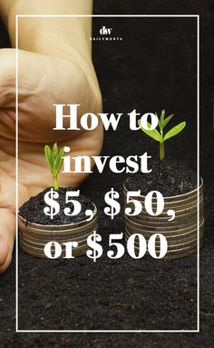 You don't need to have a ton of money to invest.