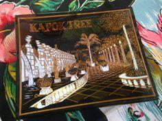 Vintage Kapok Tree Restaurant cendrier - verre noir et or-cendrier - Clearwater Floride
