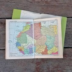 Vintage world atlas Geography map Historical maps by MyWealth