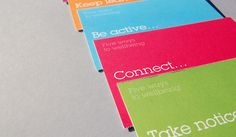Five Ways to Wellbeing by Loz Ives, via Behance