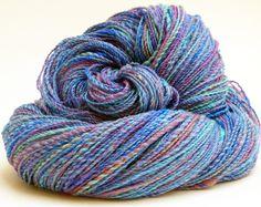 """Handgesponnen & -gefärbt - """"Himmelwärts"""" handgesponnene handgefärbte Wolle - ein Designerstück von Farberfinderin bei DaWanda"""