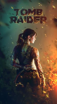 What character would you play n a movie and why? Tomb Raider by Zach Bush, via Behance
