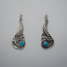 Vintage silver earrings native american by BijouxTurquoise on Etsy