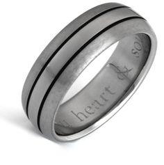 Matte & Polished Titanium Wedding Band Ring with Black Grooves Titanium Jewelry, Wedding Ring Bands, Band Rings, Rings For Men, Pendants, Black, Men Rings, Black People, Hang Tags