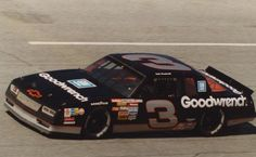 Dale Earnhardt and his silver and black colored No. 3 Monte Carlo. #DaleEarnhardtMemorial http://www.pinterest.com/jr88rules/dale-earnhardt-memorial/