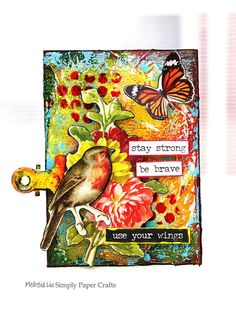 Meihsia Liu Simply Paper Crafts Mixed Media ATC Resist Tim Holtz Simon Says Stamp Monday Challenge