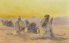 Evening Prayer in the Desert (Abendgebet in der Wüste) (Otto Pilny - )