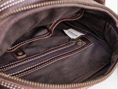 Genuine Leather Mens Cool Messenger Bag Square Bag Chest Bag Bike Bag Cycling Bag for men Cool Messenger Bags, Cycling Bag, Bike Bag, Custom Bags, Long Wallet, Card Wallet, Shoulder Bag, Leather, Men