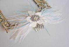 Bridal Fascinator Wedding Bridal Hair Accessories by FancieStrands