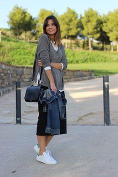 bloguera moda con zapatillas adidas stan smith  / look con zapatillas adidas stan smith / fashion blogger with Stan Smith Outfit