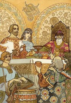 Ivan Bilibin. Illustration from Alexander Pushkin's epic fairy tale in verse, 'Ruslan and Lyudmila'.