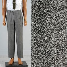 Mens Vintage 50s Pleated Tapered Leg Gray by StyleandSalvageMen, $65.00