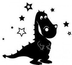 Dino mit Sternen