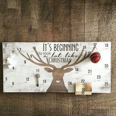 Advent calendar christmas countdown sign deer by FreestyleMom