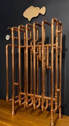 Copper And Brass, Radiators, Chandelier, Upstairs Bedroom, Ceiling Lights, Vintage, Bathroom, Etsy, Design