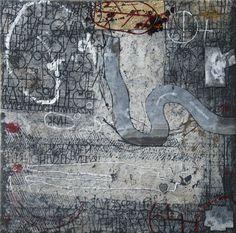 Nana - Gemengde techniek op linnen - 60 x 60 cm - 2010