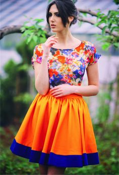 orange skirt #995nojeans #995fashion #cottonskirt #skirt #fashion #style