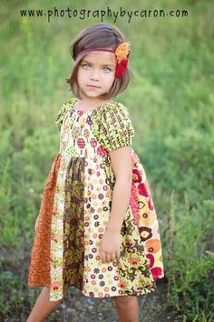 stripwork peasant dress (have no little girl to sew it for but had to pin it, coz it's so cute)