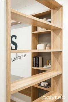 Bookcase and Desk in Natural Oak Ravine.