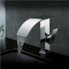 Zeige Details für Zeitgenössische Wasserfall Bad Waschtischarmatur (verchromt)                                                                                                                                                                                 Mehr