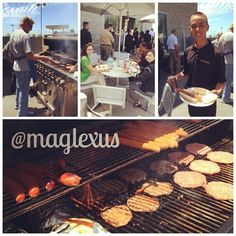 GM, Bo Magnussen treats the team to a #BBQ on a beautiful summer day. ☀️